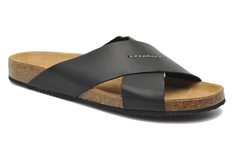 Sandales et nu-pieds Rondinaud Trèfle Noir vue détail/paire