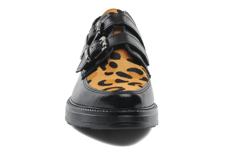 Mocassins Bronx Dian Noir vue portées chaussures