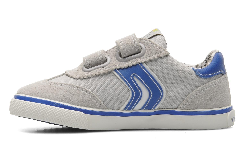 Sneaker Geox B KIWI B. C - SCAM.+TELA grau ansicht von vorne