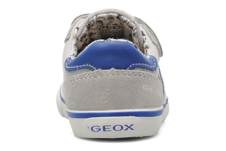 Sneaker Geox B KIWI B. C - SCAM.+TELA grau ansicht von rechts