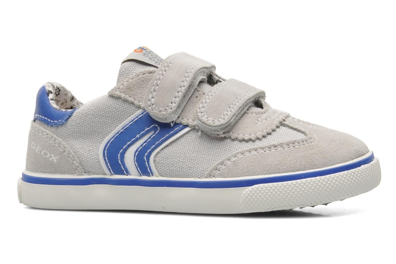 Sneaker Geox B KIWI B. C - SCAM.+TELA grau ansicht von hinten