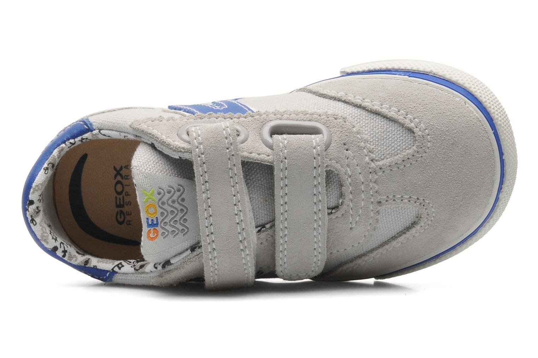 Sneaker Geox B KIWI B. C - SCAM.+TELA grau ansicht von links