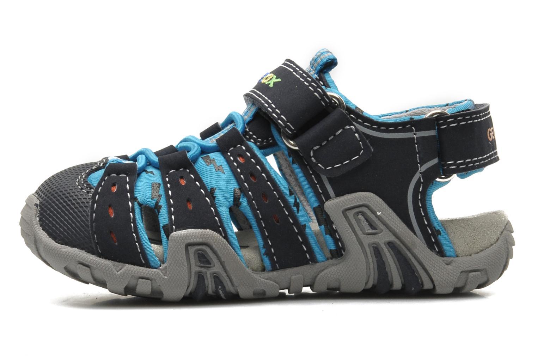 Sandales et nu-pieds Geox B SAND.KRAZE A - DBK+LYCRA Bleu vue face
