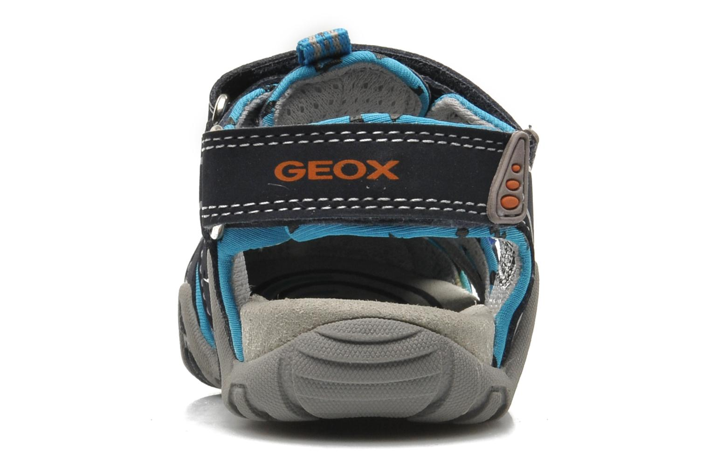 Sandales et nu-pieds Geox B SAND.KRAZE A - DBK+LYCRA Bleu vue droite