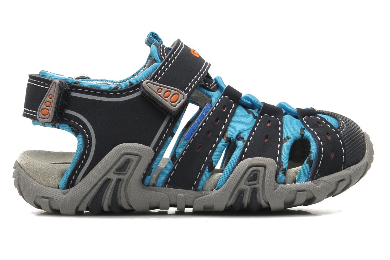 Sandales et nu-pieds Geox B SAND.KRAZE A - DBK+LYCRA Bleu vue derrière