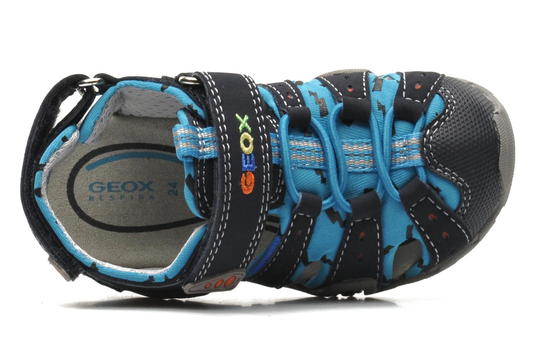 Sandales et nu-pieds Geox B SAND.KRAZE A - DBK+LYCRA Bleu vue gauche