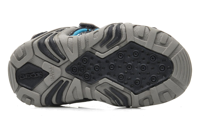 Sandales et nu-pieds Geox B SAND.KRAZE A - DBK+LYCRA Bleu vue haut