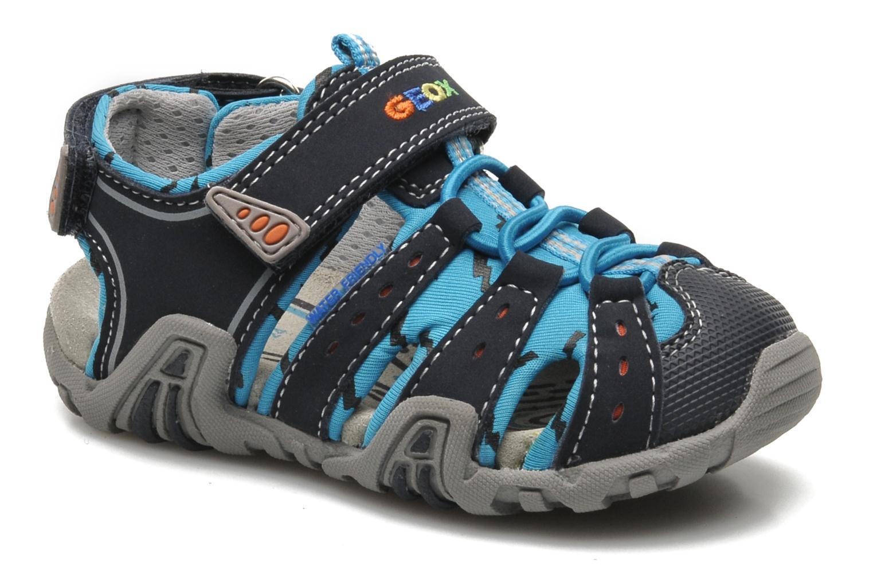 Sandales et nu-pieds Geox B SAND.KRAZE A - DBK+LYCRA Bleu vue détail/paire