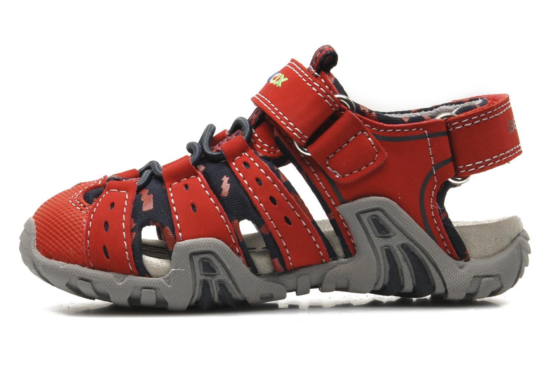 Sandales et nu-pieds Geox B SAND.KRAZE A - DBK+LYCRA Rouge vue face