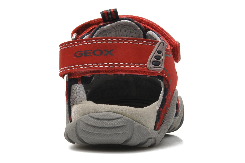 Sandales et nu-pieds Geox B SAND.KRAZE A - DBK+LYCRA Rouge vue droite