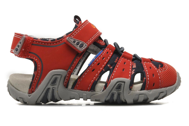 Sandales et nu-pieds Geox B SAND.KRAZE A - DBK+LYCRA Rouge vue derrière