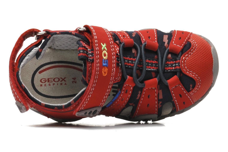 Sandales et nu-pieds Geox B SAND.KRAZE A - DBK+LYCRA Rouge vue gauche