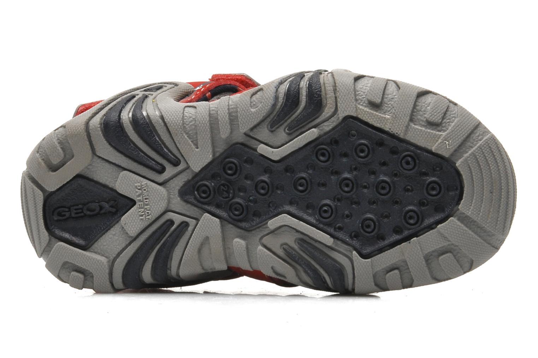 Sandales et nu-pieds Geox B SAND.KRAZE A - DBK+LYCRA Rouge vue haut