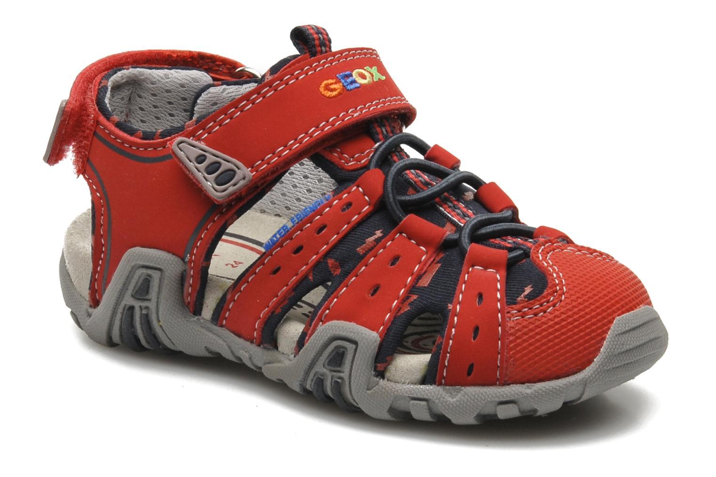 Sandales et nu-pieds Geox B SAND.KRAZE A - DBK+LYCRA Rouge vue détail/paire