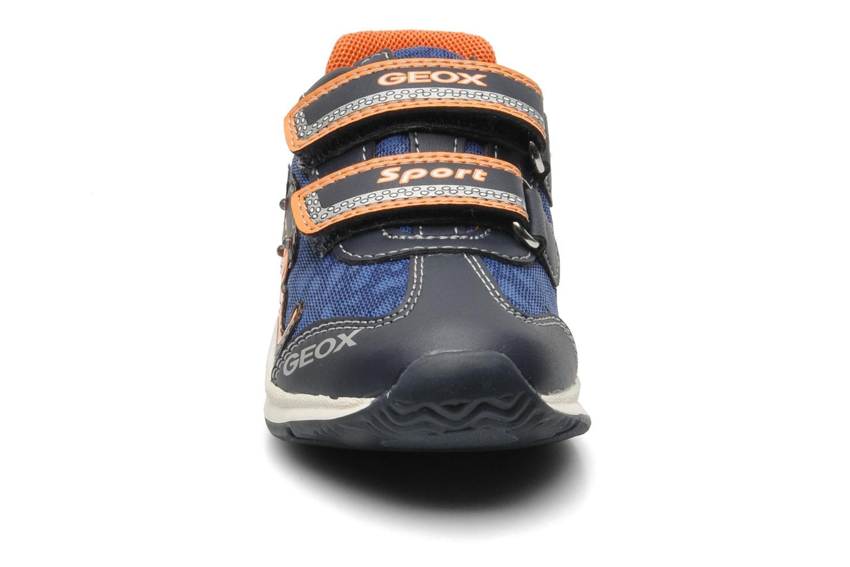 Baskets Geox B TEPPEI B. C - MESH+DBK Bleu vue portées chaussures