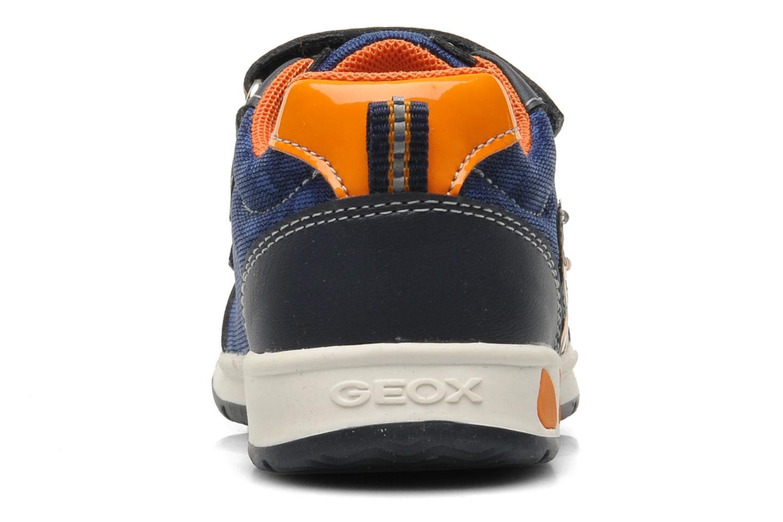 Baskets Geox B TEPPEI B. C - MESH+DBK Bleu vue droite