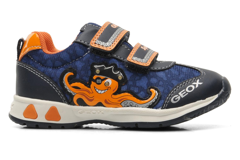 Sneaker Geox B TEPPEI B. C - MESH+DBK blau ansicht von hinten