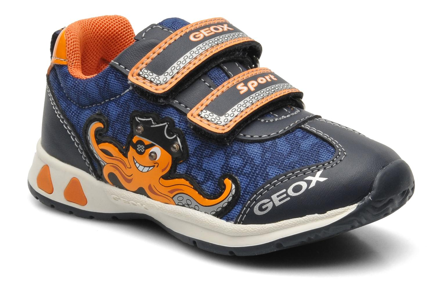 Trainers Geox B TEPPEI B. C - MESH+DBK Blue detailed view/ Pair view