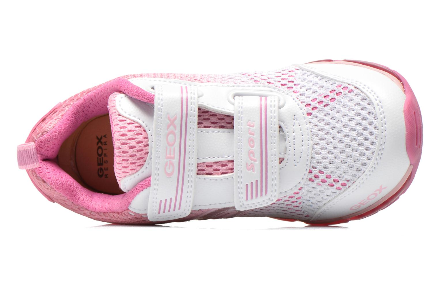 Sneaker Geox J Android G. A J5245A rosa ansicht von links