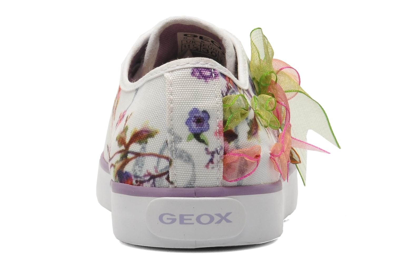 Baskets Geox J CIAK G. B - TESS.ST. Blanc vue droite