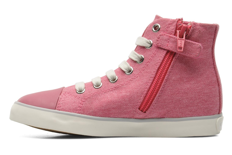 Sneakers Geox J CIAK G. G - TELA Roze voorkant