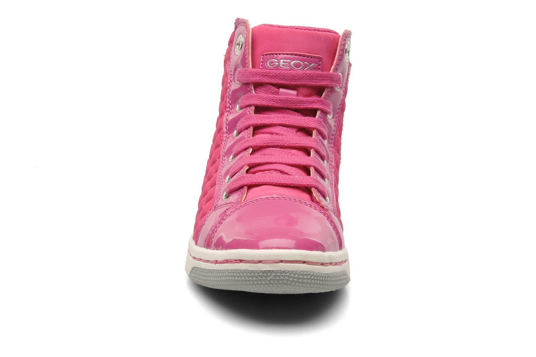 Sneaker Geox J CREAMY A - NYLON+VERN.SINT. rosa schuhe getragen