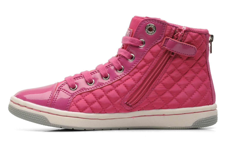 Sneaker Geox J CREAMY A - NYLON+VERN.SINT. rosa ansicht von vorne