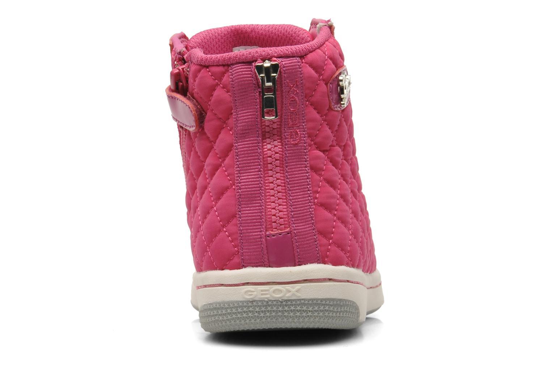 Sneaker Geox J CREAMY A - NYLON+VERN.SINT. rosa ansicht von rechts