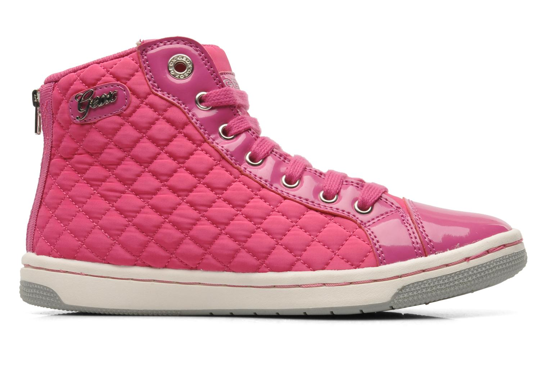 Sneaker Geox J CREAMY A - NYLON+VERN.SINT. rosa ansicht von hinten