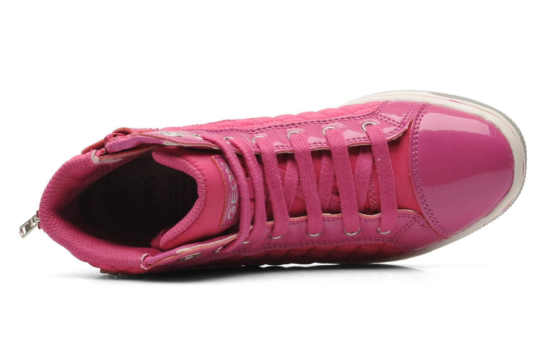 Sneaker Geox J CREAMY A - NYLON+VERN.SINT. rosa ansicht von links