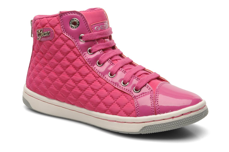 Sneaker Geox J CREAMY A - NYLON+VERN.SINT. rosa detaillierte ansicht/modell