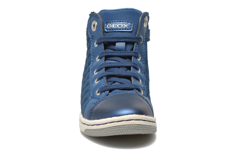 Sneaker Geox J CREAMY A - NYLON+VERN.SINT. blau schuhe getragen
