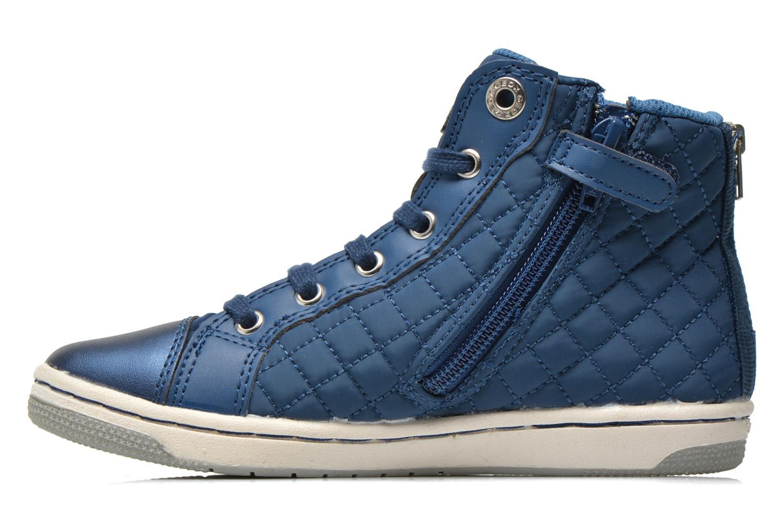 Sneaker Geox J CREAMY A - NYLON+VERN.SINT. blau ansicht von vorne