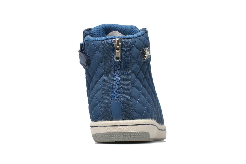 Sneaker Geox J CREAMY A - NYLON+VERN.SINT. blau ansicht von rechts