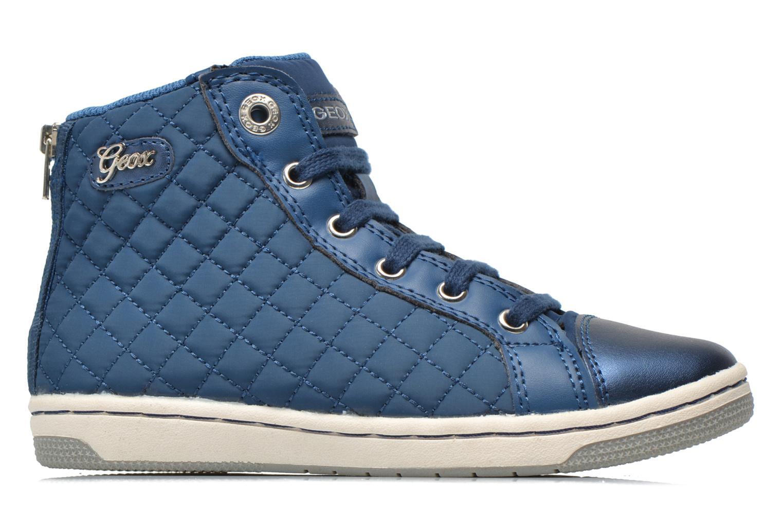 Sneaker Geox J CREAMY A - NYLON+VERN.SINT. blau ansicht von hinten
