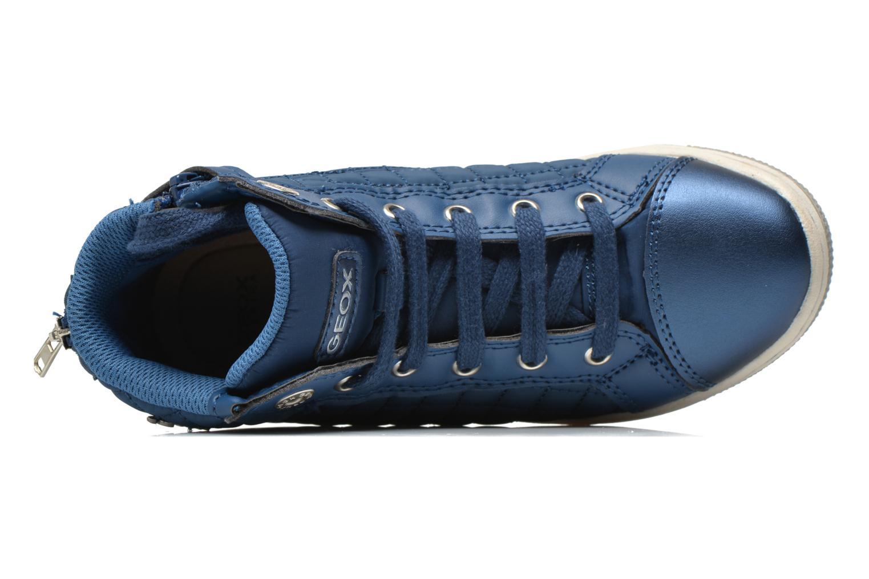 Sneaker Geox J CREAMY A - NYLON+VERN.SINT. blau ansicht von links