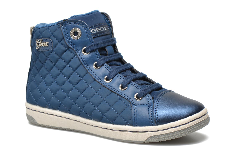 Baskets Geox J CREAMY A - NYLON+VERN.SINT. Bleu vue détail/paire
