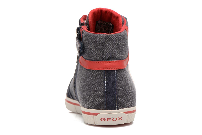 Sneaker Geox J Kiwi B. D J52A7D blau ansicht von rechts