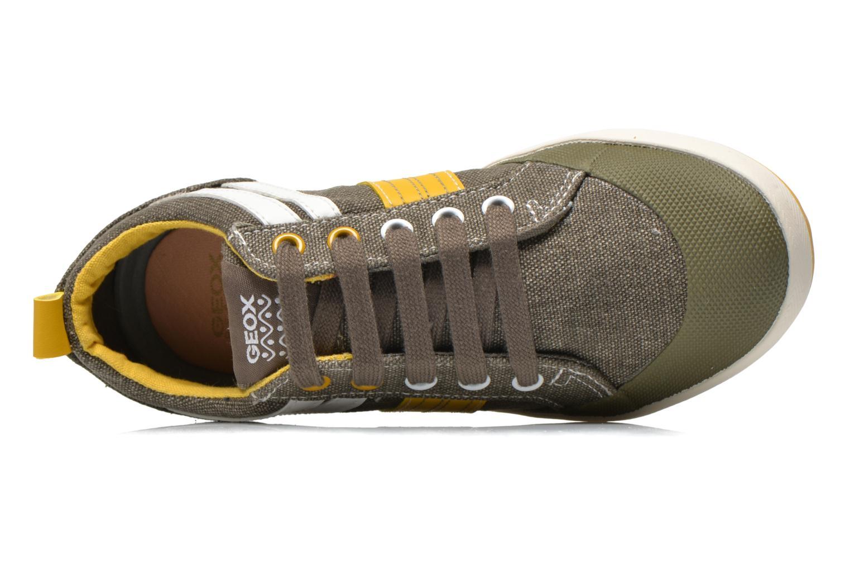 Sneaker Geox J Kiwi B. I J52A7I grün ansicht von links