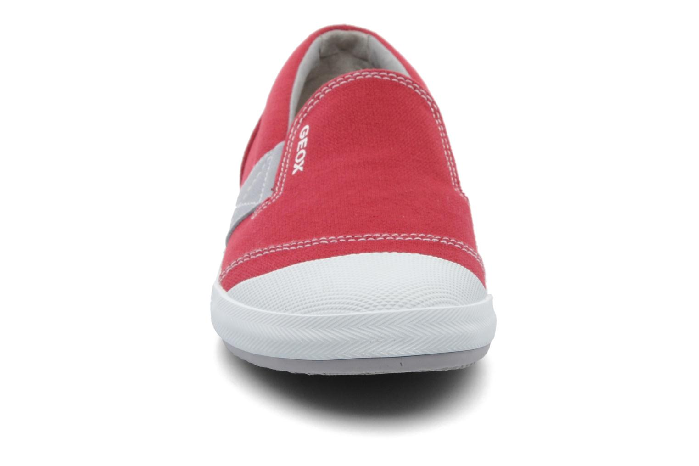 Baskets Geox J KIWI B. J - TELA Rouge vue portées chaussures
