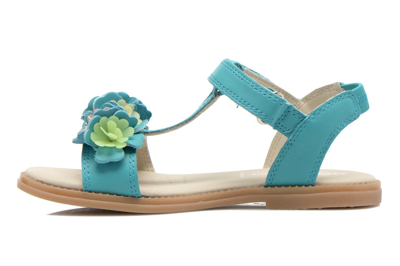 Sandales et nu-pieds Geox J S.KARLY G.B - VIT.LISCIO Bleu vue face