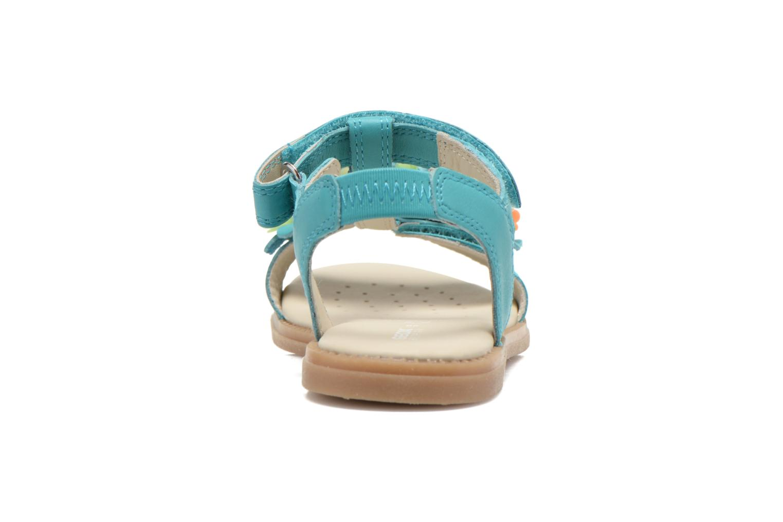 Sandales et nu-pieds Geox J S.KARLY G.B - VIT.LISCIO Bleu vue droite