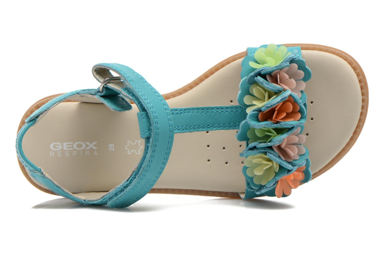 Sandales et nu-pieds Geox J S.KARLY G.B - VIT.LISCIO Bleu vue gauche