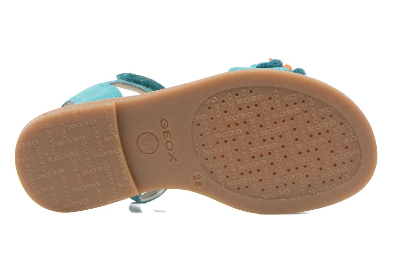 Sandali e scarpe aperte Geox J S.KARLY G.B - VIT.LISCIO Azzurro immagine dall'alto
