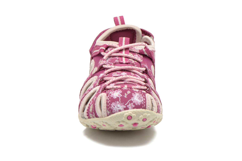 Sandales et nu-pieds Geox J S.Roxanne C J52D9C Rose vue portées chaussures