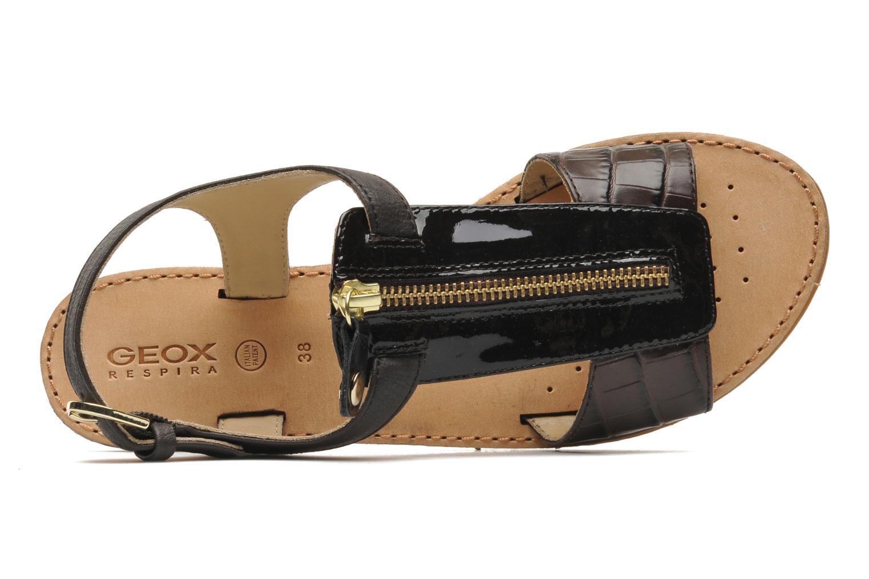 Sandali e scarpe aperte Geox D JOLANDA K-D5275K Marrone immagine sinistra