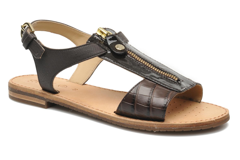 Sandaler Geox D JOLANDA K-D5275K Brun detaljeret billede af skoene