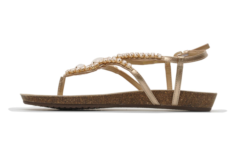Sandales et nu-pieds Geox D VINCA F-D5297F Beige vue face