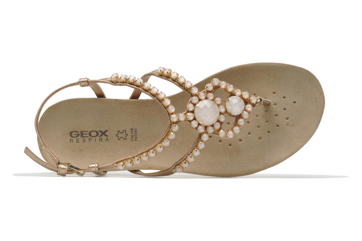 Sandals Geox D VINCA F-D5297F Beige view from the left