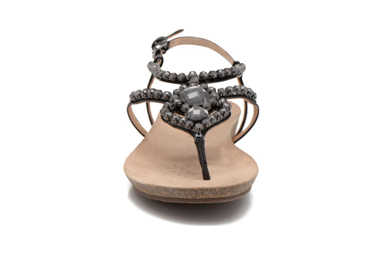 Sandales et nu-pieds Geox D VINCA F-D5297F Noir vue portées chaussures